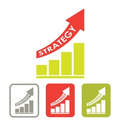 strategy success graph vector image vector image
