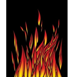 Abstract flame wave background vector image