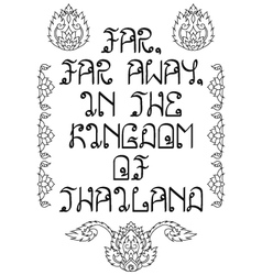 Far away in thailand vacation memories poster vector