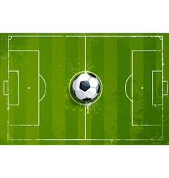 Grunge soccer playing field vector image vector image