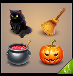 halloween icons-set 1 vector image vector image
