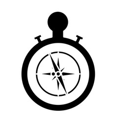 nautical rose navigation vector image vector image