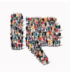 people crowd Dislike vector image