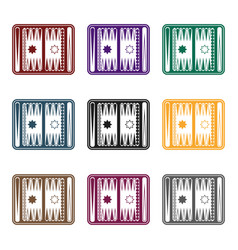 backgammon icon in black style isolated on white vector image