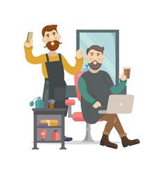 Barbershop hair salon vector