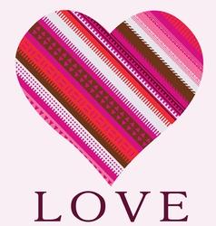 color ornamental heart valentine post card vector image