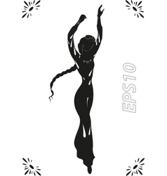 Dance of adorable fairy in ancient timesEPS10 vector image