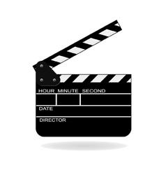 open movie slate vector image vector image