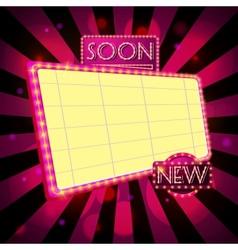 Retro billboard ad vector image vector image