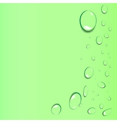 Abstract background with drops vector image