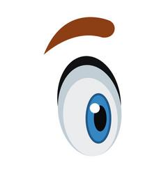 cute cartoon eye eyebrow emotion look vector image vector image