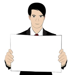 hold paper 2 vector image vector image