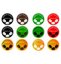 100 arabica coffee - sticker or label vector