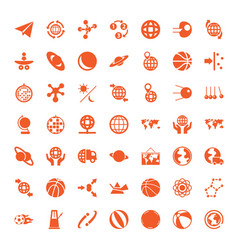 49 sphere icons vector image