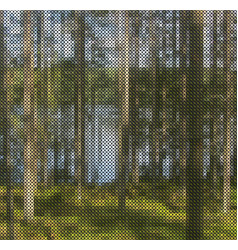 Abstract nature cross-stitch vector
