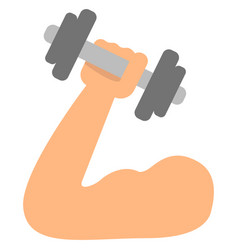 arm with dumbbell vector image