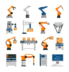 Automation icons set vector