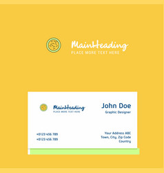 bacteria logo design with business card template vector image