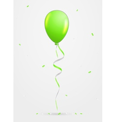 Balloon and confetti vector