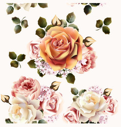 Beautiful seamless wallpaper pattern with rose vector