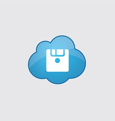 Blue cloud save icon vector