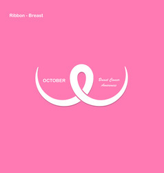 Breast cancer october awareness vector