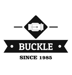 Buckle elegance logo simple black style vector