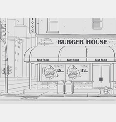 burger house in new york vector image