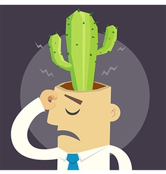 Cactus Man vector image
