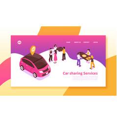 Car sharing horizontal banner vector