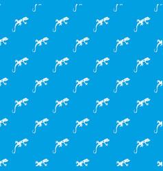 chameleon pattern seamless blue vector image