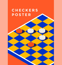 checkers game poster vector image