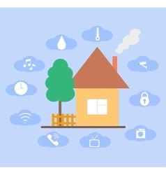 Concept of smart house technology vector