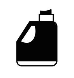 Contour gasoline bottle to car industrial vector
