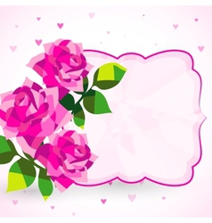 Decorative background or card with roses vector