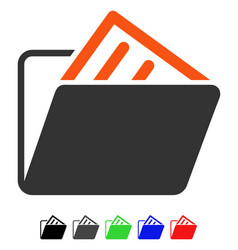 Document folder flat icon vector