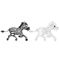 Doodle animal for zebra vector