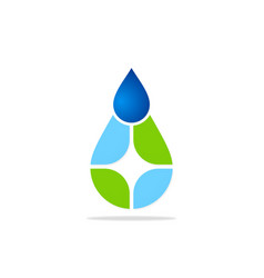 eco water droplet logo vector image
