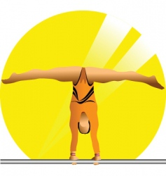 female gymnast vector image vector image