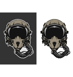 Fighter Pilot Helmet vector