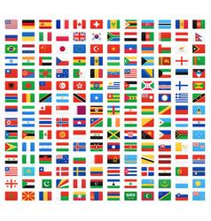 Flag world icons vector