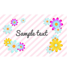 floral background with place for text vector image