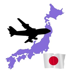 Fly me to the japan vector