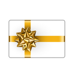 Gift box with golden bow vector