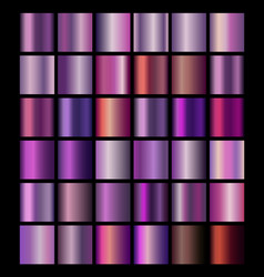 glossy neon shiny metallic gradient colorful vector image
