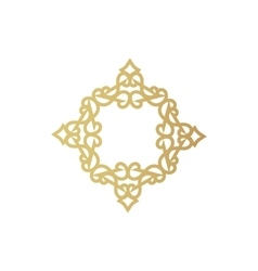 Gold geometric figure or vegetable item for vector