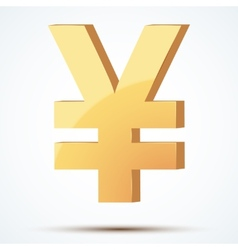Golden symbol of yen vector