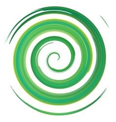 green watercolor spiral vector image