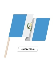 Guatemala Ribbon Waving Flag Isolated on White vector image