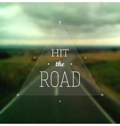 Hit road vector
